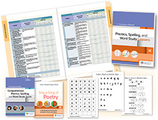 Phonics, Spelling, and Word Study System, for Kindergarten cover