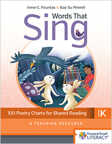 Words That Sing, Kindergarten cover