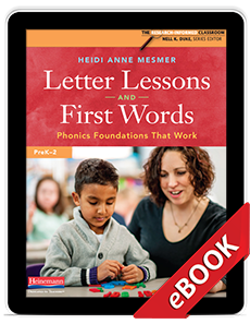 Learn more aboutLetter Lessons and First Words (eBook)