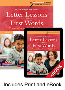 Learn more aboutLetter Lessons and First Words (Print eBook Bundle)