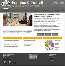 Fountas & Pinnell Leveled Books Website | Learn More and Purchase Subscription
