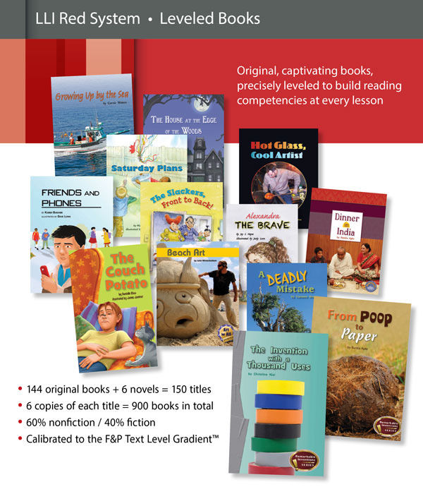 Fountas Pinnell Leveled Literacy Intervention LLI RED