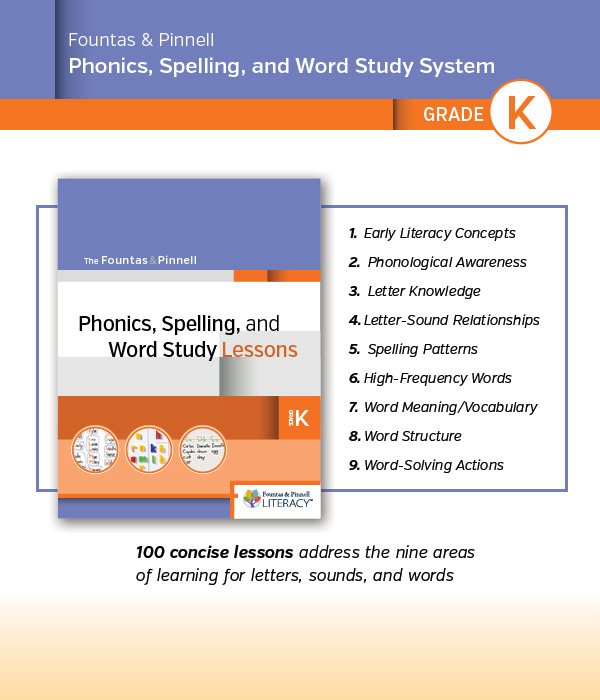 Phonics, Spelling, and Word Study System, for Kindergarten