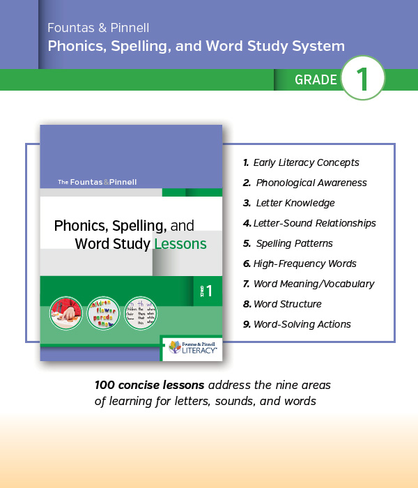 Phonics, Spelling, and Word Study System, for Grade 1